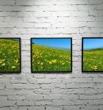 Impression toile decor -cadre visible low